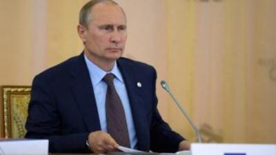 El mandatario ruso Vladimir Putín, dijo que fueron rebeldes sirios los q...