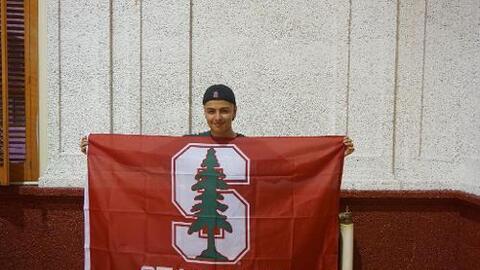 Pomarillo, orgulloso de su logro y listo para triunfar en Stanford.