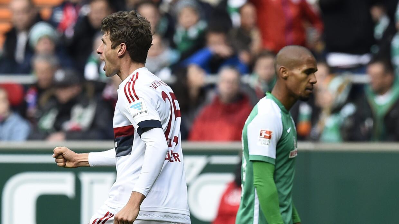 Thomas Müller anotó el gol del Bayern