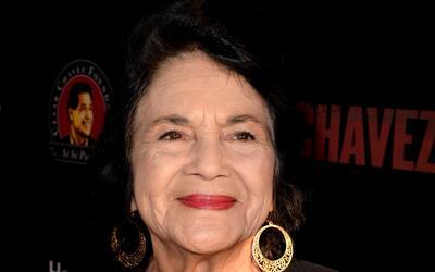Huerta en la premiere del filme 'Cesar Chavez' en 2014.