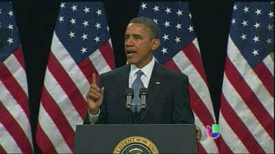 Barack Obama habló sobre los principios en que debe basarse una reforma...