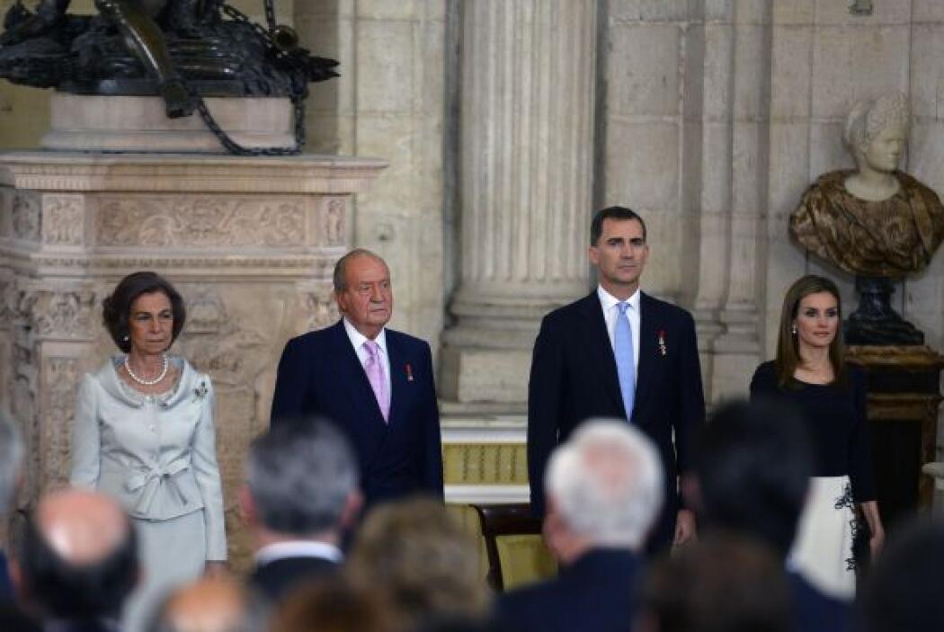 La Sala de Columnas del Palacio Real, en el centro de Madrid, fue escena...