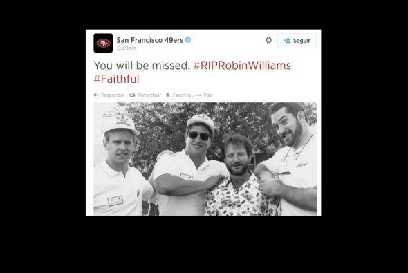 Los 49 de San Francisco, recordaron a Robin Williams.