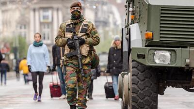 Vigilancia militar en Bélgica