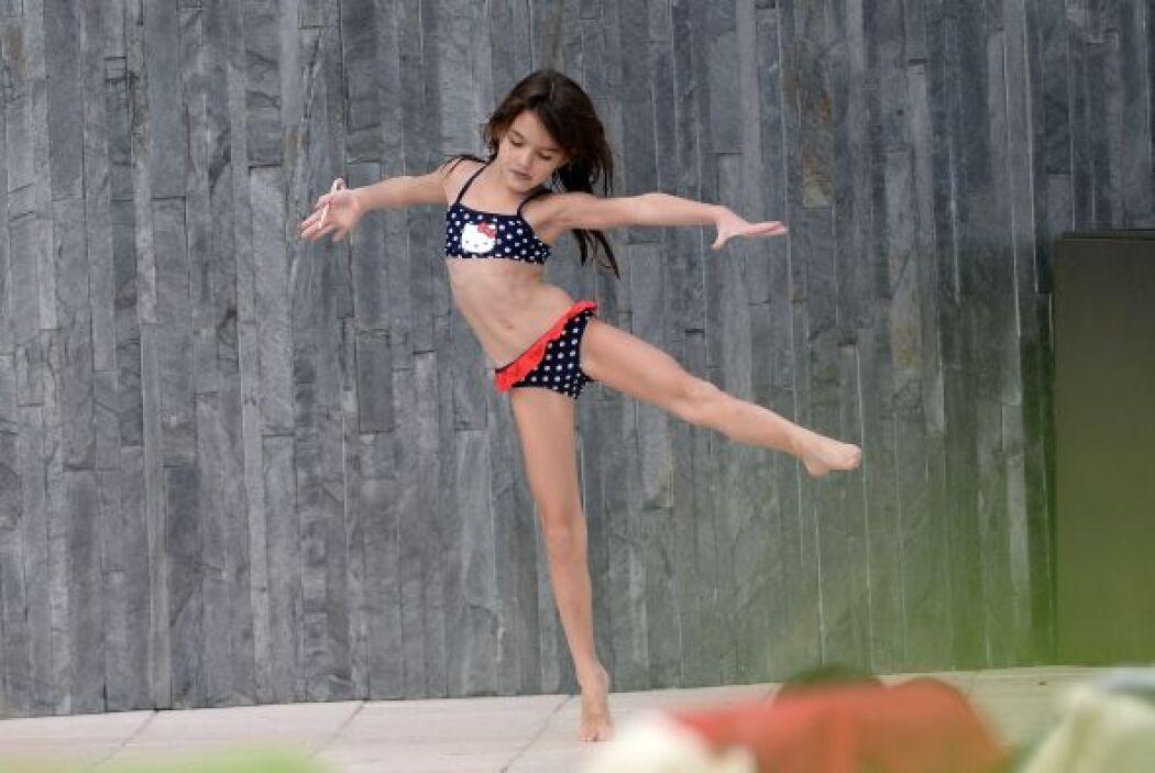¡Pero fue Suri Cruise, hija de Katie, quien robó el protagonismo en el h...