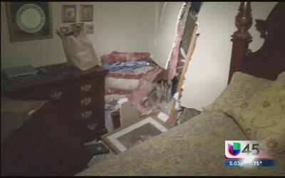 Hombre ebrio se estrelló contra una casa
