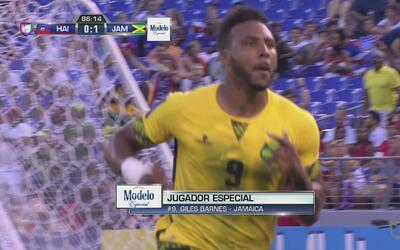 Giles Barnes puso a Jamaica en semifinal de Copa Oro