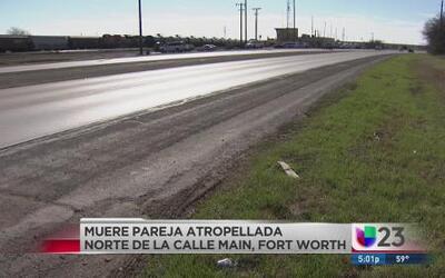 Pareja murió atropellada en Ft. Worth