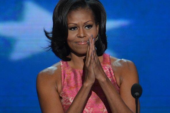 La primera dama dio un discurso histórico en septiembre de 2012 en la Co...