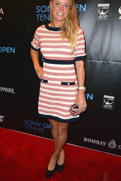 La jugadora danesa Caroline Wozniacki. No cabe duda que McIlroy vino a e...