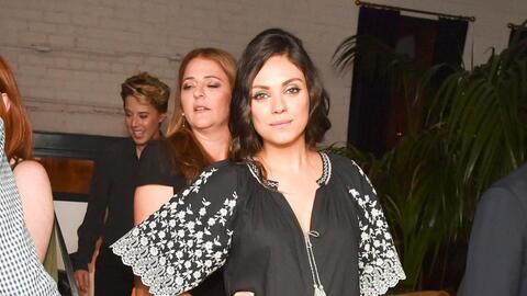 Mila Kunis en la fiesta post-estreno.