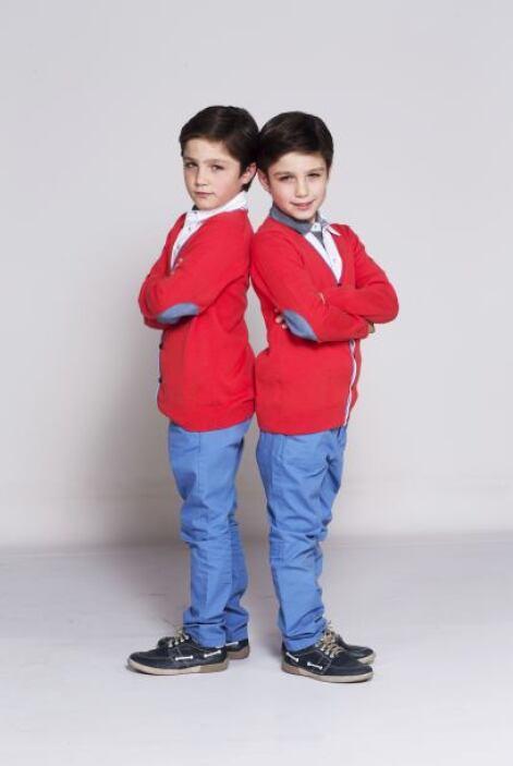 Son Pablo y Manuel, quienes interpretarán a los gemelos Guille y Alex. Y...