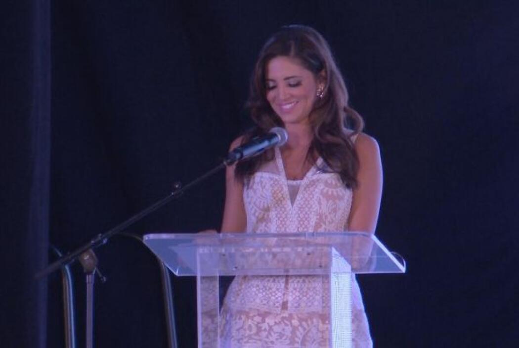 Pamela Silva Conde fue la maestra de ceremonias del desfile de modas de...