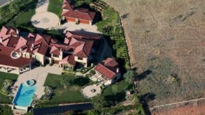 Vista aérea de una villa en Rancho Santa Fe, California.