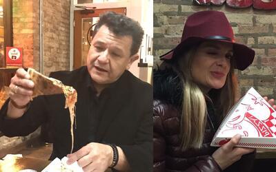 Renzo y Maria Esther se fueron a comer pizza de Chicago por primera vez