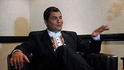 El presidente de Ecuador, Rafael Correa, dijo que está pensando con Colo...