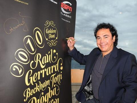 Hugo Sánchez estuvo presente en el evento llamado 'Golden Foot Pr...