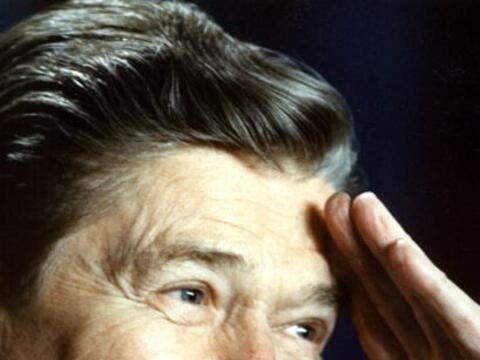 Ronald Reagan fue conocido como 'el gran comunicador', por la facilidad...