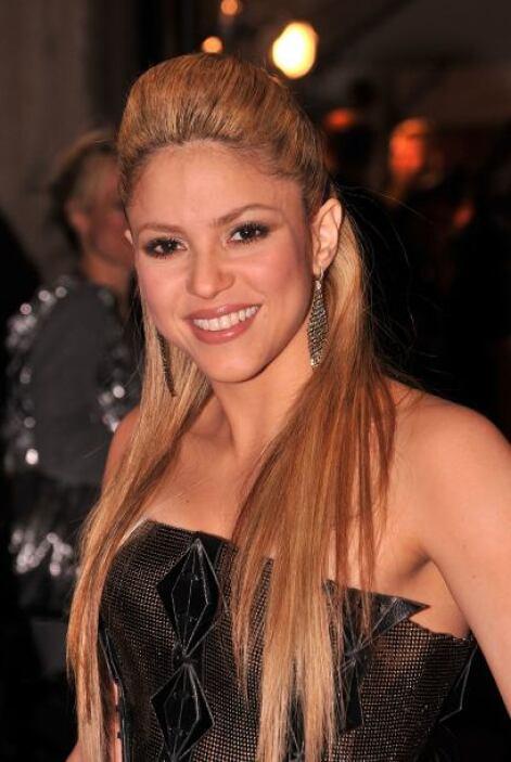 La colombiana siempre juega con su cabello y prefiere el maquillaje senc...