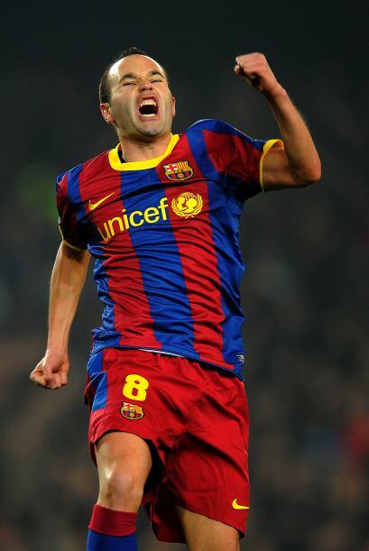 Pero el primero en anotar fue Andrés Iniesta, un golazo.