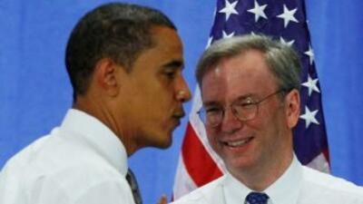 Imagen de archivo de Barack Obama conEric Schmidt.