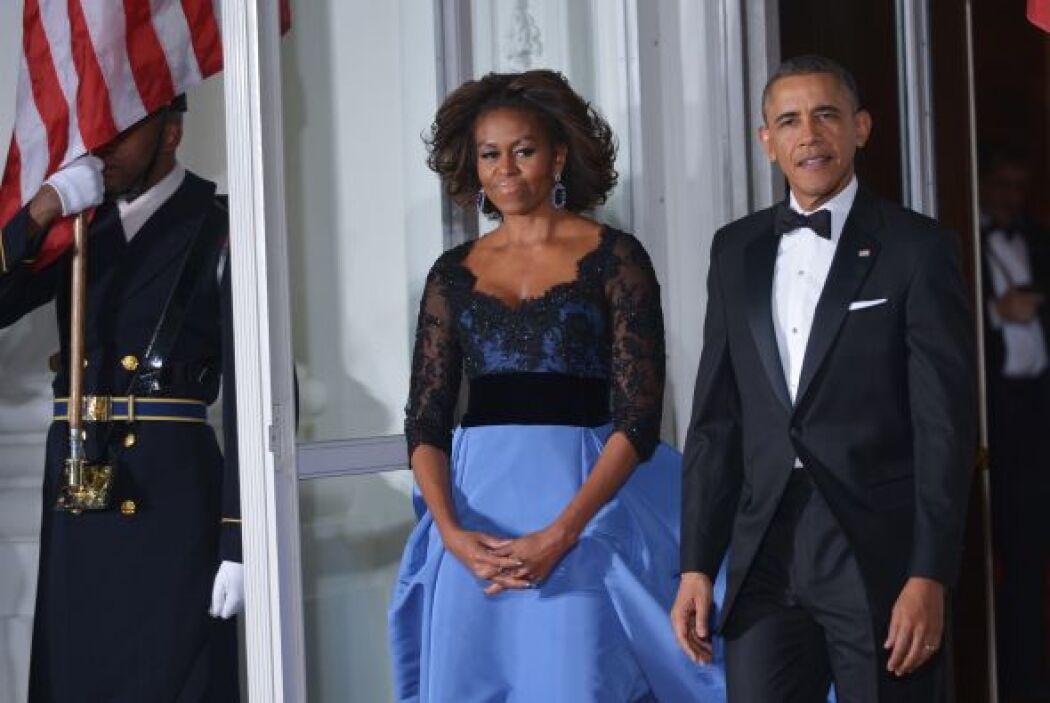 Aquí vemos otro de los elegantes modelitos de la primera dama de EEUU.
