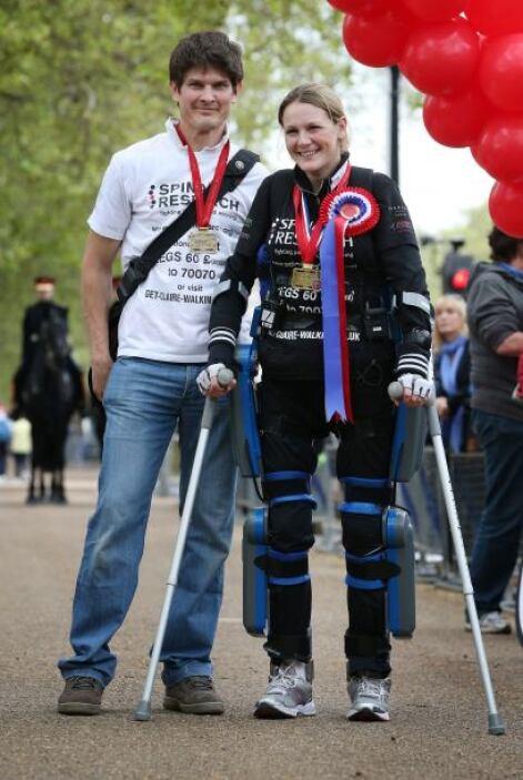 """La británica recordó que """"hay gente que pierde también la movilidad de l..."""