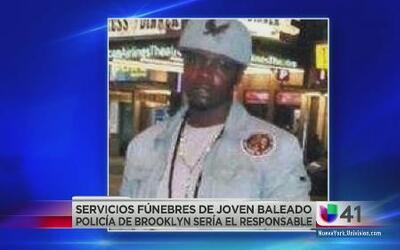 Despiden a joven baleado por NYPD