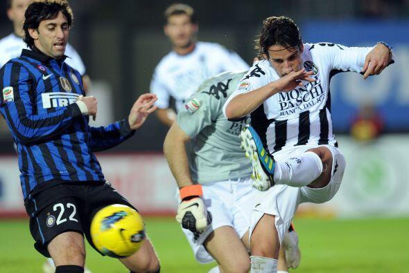 Un partido que se le complicó muchísimo al Inter, que estaba de visitante.