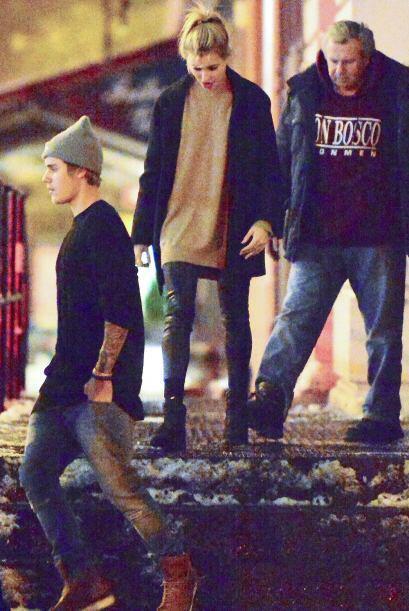 ¿Cena romántica? No sabemos si fue así el tiempo que compartieron Justin...