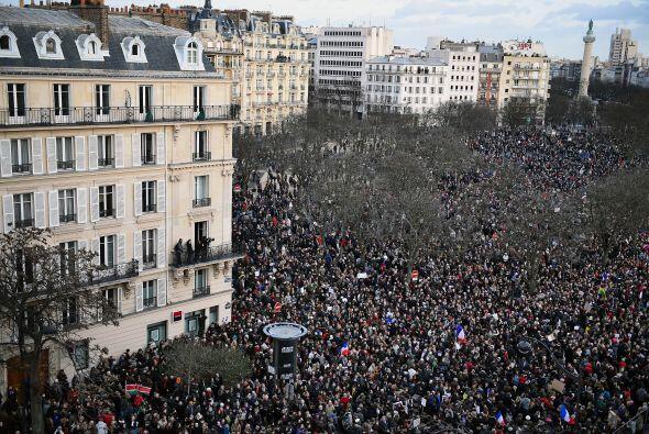Al comienzo de la movilización, se estimó que el número de asistentes er...