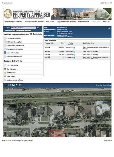 Ajuste del precio de la propiedad de Pedro Delgado en Miami.