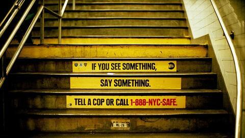 La MTA volvió a lanzar su campaña contra el terrorismo.