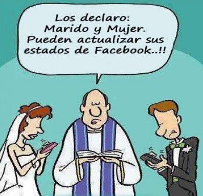 """""""Los declaro marido y mujer. ¡Pueden actualizar sus estados d..."""