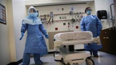 El Hospital Bellevue durante el brote de ébola en el 2014 que causó páni...