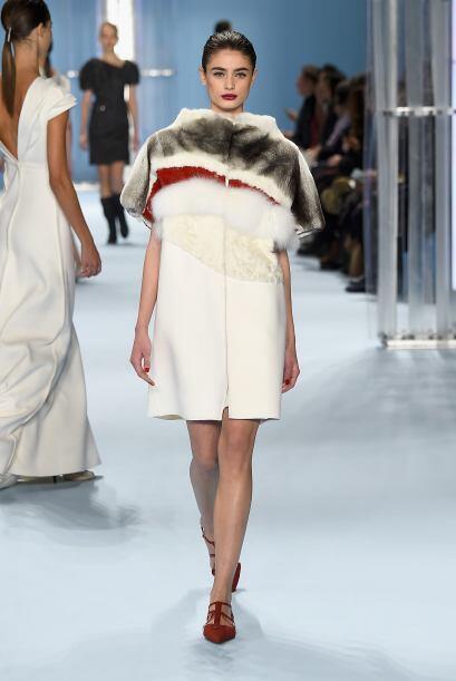 El 'fur' no sólo estuvo presente en accesorios, también en la confección...