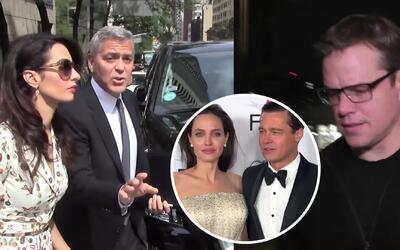 Matt Damon, George Clooney y más famosos reaccionan a la separación de B...