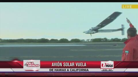 Avión solar vuela de Hawaii a California