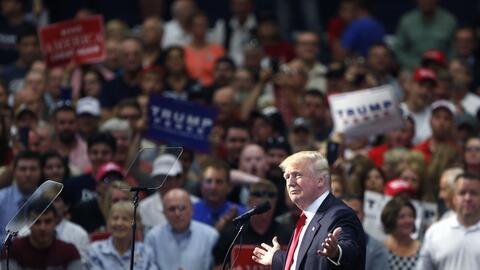 Trump en Akron (Ohio).