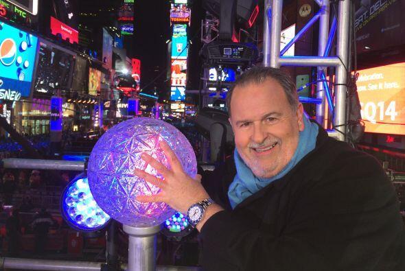 Aquí vemos al Gordo con la bola del Times Square.
