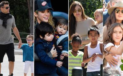 Hijos famosos idiomas Ricky Martin; Shakira; Angelina Jolie, Salma Hayek