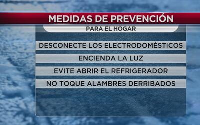 Emiten medidas de prevención en caso de apagones durante la tormenta inv...