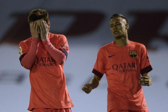 Messi no podía creer la cantidad de fallas que existieron en el encuentr...
