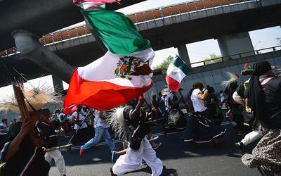 Una celebración por el Cinco de Mayo en la Ciudad de Méxic...