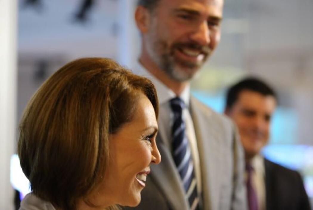 El príncipe Felipe de Borbón y Maria Elena Salinas, en Newsport. (Alan L...