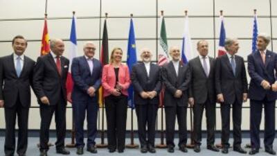 La delegación internacional que promovió el acuerdo con Irán.