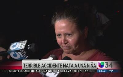 Niña de dos años murió en trágico accidente