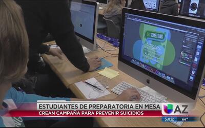 Estudiantes de Mesa crean campaña para evitar el suicidio entre los jóvenes