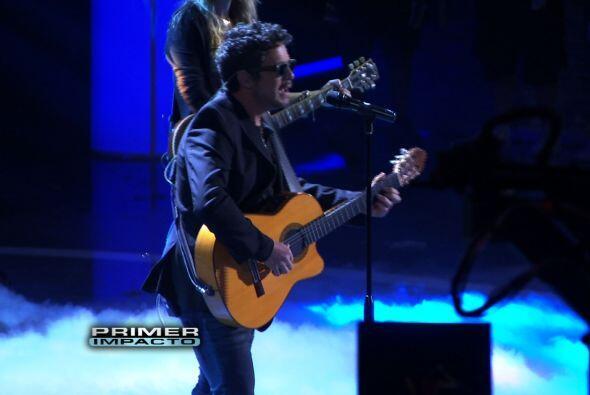 Alejandro Sanz ensayando para Premio Lo Nuestro.