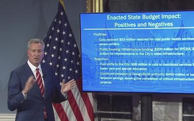 Bill de Blasio propone 84,680 millones de dólares para el nuevo presupue...